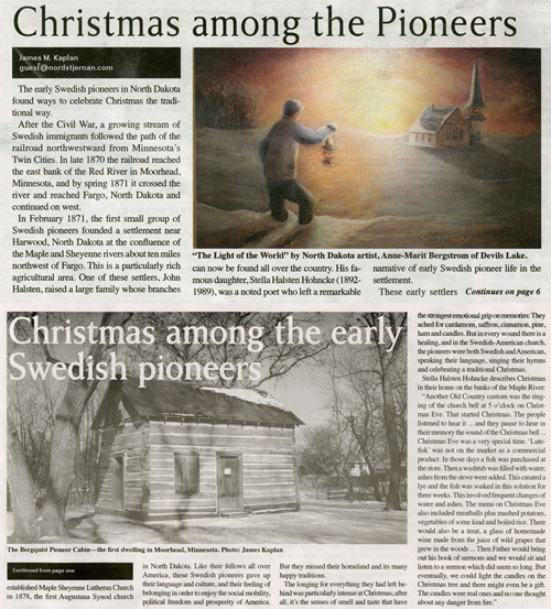 Christmas among the Pioneers