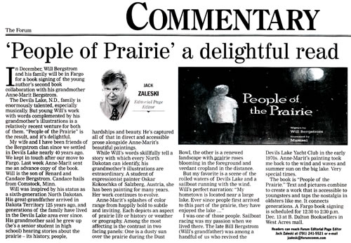 People of Prairie a delightful read